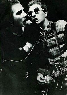 1977 Dave Vanian and Captain Sensible