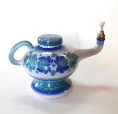 Gorgeous Spanish Porcelain Pottery Magic Aladdin Oil Lamp Porta Celi Spain Mint