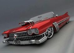 Beautiful custom low-rider convertible.