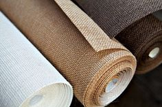 Burlap Wall Covering, Remodelista