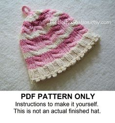 KNITTING PATTERN  Baby Girl Hat PATTERN  Pink by FiddlestyxStudios, $5.50
