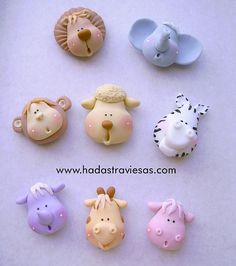 Cupcake Inspiration - Toppers, Animal Heads, Lion, Elephant, Monkey, Zebra
