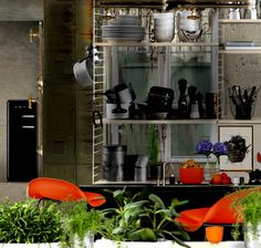 'Kitchen in a loft #Orange' created in #neybers
