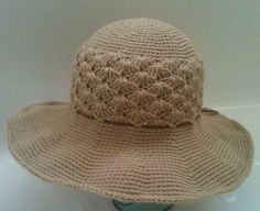 Women's Summer  Hat .....  Crochet Hat with Wide Brim...... Crochet Sun Hat.... Cotton Hat