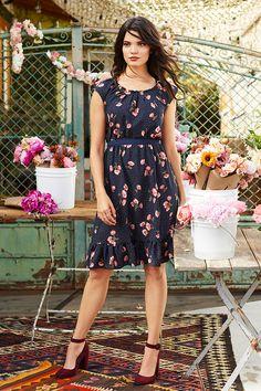 LC Lauren Conrad floral pleat dress