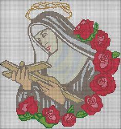 Santa Rita De Cascia, St Charbel, Diy Crafts Crochet, Cross Stitch Freebies, Dulhan Mehndi Designs, Crafty Projects, Cross Stitch Designs, Religion, Kids Rugs