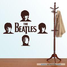 """""""Grupo los Beatles""""  Los 4 integrantes del que fuera uno de los mejores grupos de su época, este vinilo se entrega en una pieza de 330x56 cm #retovinilo #vinilosdecorativos #vinilo #musica #thebeatles"""