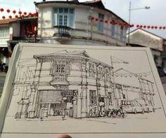 Yandi Prayudhi urban sketchbook art journal travel diary.