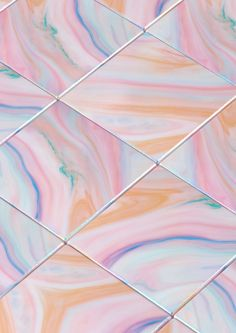 marbled pastels #tile
