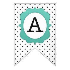 Free printable letters printable banner letters free printable free printable polka dot banner set spiritdancerdesigns Images