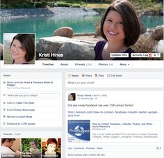 5 Tips for the New Facebook Timeline for Personal Profiles from Kristi Hines (you can now have up to 20% text on your timeline cover photo...great for writers)