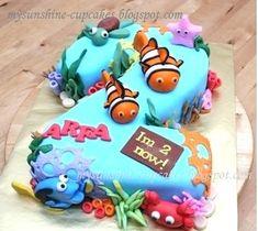Finding Nemo Birthday Cake Theme For Kids Birthday Ideas Second Birthday Cake I Just Love Cartoon Ocean Themed Colours Birthday Cake Party Supplies Finding Nemo Cake, Finding Nemo Party Supplies, Finding Dory Birthday Cake, Dory Cake, Cupcakes, 2nd Birthday, Birthday Cakes, Birthday Ideas, Birthday Parties