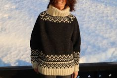 Excited to share this item from my #etsy shop: LEIRVASS Norwegian sweater - handknit - NEW in shop   #clothing #sweater #unisex #knit #handknit #norwegian #nordic #wool