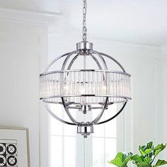 Waldin Chrome Glass Globe Pendant (Chrome Glass Globe Pendant), Clear, Warehouse of Tiffany Globe Chandelier, Ceiling Lights, Cool Floor Lamps, Chrome Lights, Pendant Lighting, Chandelier, Globe Lights, Chrome, Glass Lighting