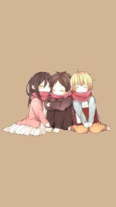 Armin, Eren and Mikasa ♥ Anime Chibi, Fanarts Anime, Anime Characters, Anime Art, Chibi Eren, Attack On Titan Season, Attack On Titan Funny, Attack On Titan Fanart, Yatogami Noragami