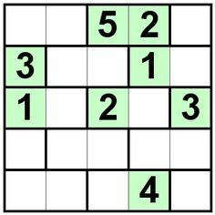 Number Logic Puzzles: 20156 - Bricks size 5