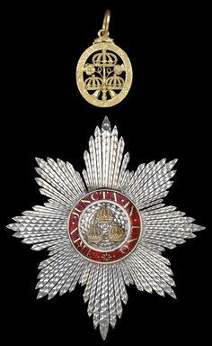 Order of the Bath, K.B., Georgian Knight's set of insignia, , comprising sash badge 43mm and breast star, 122mm x 108mm. circa 1800.