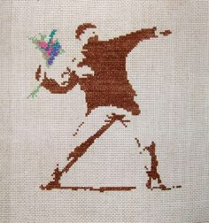 Banksy embroidery | Flickr - Photo Sharing!