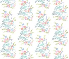 Gramma's Embroidery Light - peagreengirl - Spoonflower