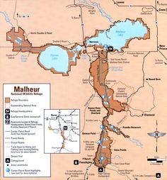 Map - Malheur National Wildlife Refuge