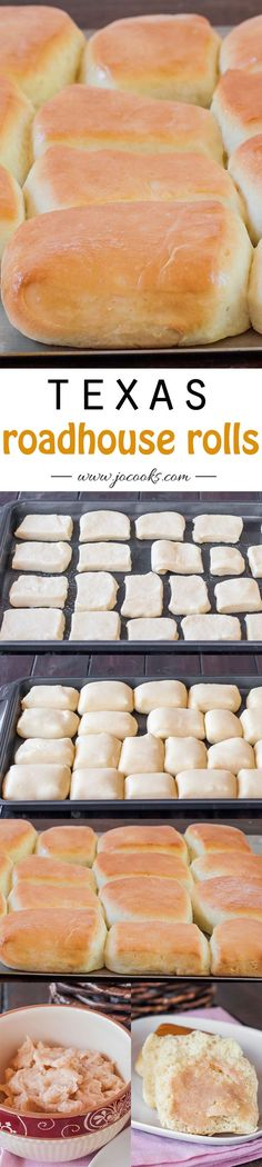 Roadhouse Rolls – copycat recipe of the Texas roadhouse rolls, not only that but the best rolls you will ever eat.Texas Roadhouse Rolls – copycat recipe of the Texas roadhouse rolls, not only that but the best rolls you will ever eat. Think Food, Love Food, Copycat Recipes, Bread Recipes, Baking Recipes, Jo Cooks, Cuisine Diverse, Dinner Rolls, Restaurant Recipes