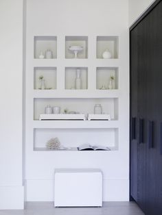 Piet Boon Styling by Karin Meyn   This total of a pure white cabinet with white selected accessories gives you a feeling of serenity and peace