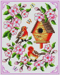 Who Lives here? (birdhouse) Tons of FREE CROSS-STITCH PATTERNS at this site: http://cross-stitchers-club.com/?code_avantage=uucqid      Plus, if you click on this link, http://cross-stitchers-club.com/?code_avantage=uucqid , you'll automatically receive a gift when you subscribe. I use this site all the time; there are hundreds of all different types of patterns, and there are new patterns added everyday. It's really worth a look.
