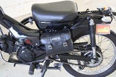 CT110 - black, back end, bag, tail lights http://www.motorbikeporn.com