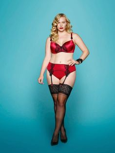 Lingerie. Curvy and beautiful.