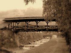 Matrei in osttirol - austria - old wooden bridge