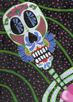 Day of the Dead painting FREE SHIPPING via Etsy