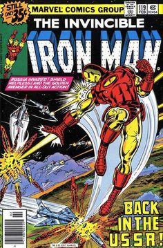 Iron Man #119 (Feb 1979) cover by John Romita, Jr and Bob Layton.