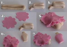 Marcipánové torty 2 - fotopostupy, recepty - - R... - str. 2 All sorts of cake technique photo tutorials - shaping, fondant/gumpaste flowers and figurines, texturizing, etc.  Not in English but still very easy to understand with the amount of photos. Could also use for shaping polymer clay.
