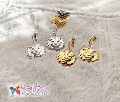 #handmade #lion #earrings #rainbowhandmadeart Handmade Art, Lion, Rainbow, Earrings, Accessories, Leo, Rain Bow, Ear Rings, Rainbows