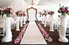 Beautiful Church Wedding Decorations   ... wedding decorations - roman columns ...   Event Church/ Ba