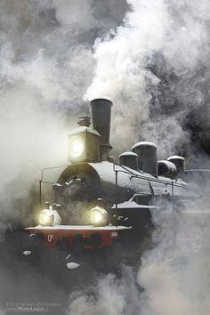Russian Locomotive by Andrew Kuznetsov