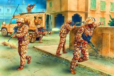 British troops in battle during the Gulf War - Seth Gecko - Alles Uber Kinofilme Military Art, Military History, Military Uniforms, British Armed Forces, War Film, Troops, Soldiers, Iraq War, Film Inspiration