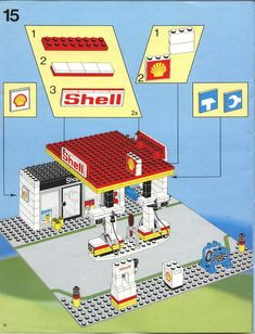 LEGO 6378 Service Station instructions displayed page by page to help you build this amazing LEGO City set All Lego, Lego For Kids, Modele Lego, Lego Machines, Lego City Sets, Lego Blocks, Lego Projects, Crafty Kids, Lego Moc