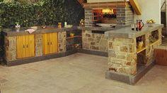 Barbacoas de obra   Chimeneas Pio Bbq Kitchen, Garden Boxes, Porches, Home Decor, Ideas, Gardens, Bar Grill, Barbecue Design, Decorations