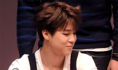 Jimin gif.. I swear he has the cutest laugh XD