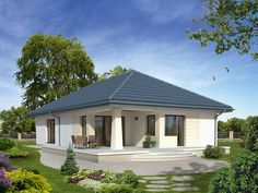 Two Bedroom House Design, Small House Design, Modern Bungalow House, Futuristic Home, Beautiful House Plans, Village House Design, Model House Plan, Rest House, Ranch House Plans