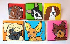 Artistic Dog Cookies.