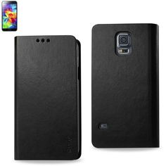 Reiko Flip Case With Card Holder For Samsung Galaxy S5 Black