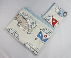 Campervan Fabric Make Up Bag or Pencil Case and Coin Purse - Free PP £11.00