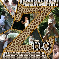 Zoo Trip scrapbook Disney Scrapbook, Scrapbook Cards, Scrapbook Page Layouts, Scrapbooking Ideas, Zoo Pictures, Zoo Book, Our Adventure Book, Zoos, Amusement Parks