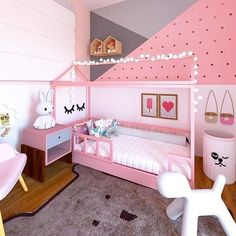 Cute Girls Bedrooms, Little Girl Bedrooms, Boy Girl Bedroom, Girl Bedroom Designs, Baby Bedroom, Girl Room, Kids Bedroom, Living Room Designs, Paris Room Decor