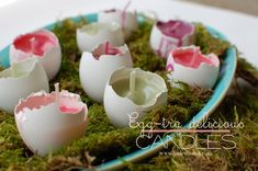 How to make EGG CANDLES #jaderbomb #eggs #easter