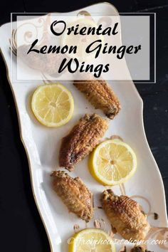 Looking for a wing recipe that is easy to serve for a crowd? These oriental lemon ginger wings are easy to make, don't take long to cook, and taste great! #entertainingdiva #appetizers #chicken #easytoserveforacrowd #fingerfoods #maincourse Haunted House Decorations, Halloween Haunted Houses, Halloween Decorations, Outdoor Halloween, Halloween Party, Wing Recipes, Finger Foods, Oriental, Lemon