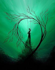 """Heartache and Poetry 59"" fantasy tree print - ©Jaime Best/BestArtStudios2 via Etsy"