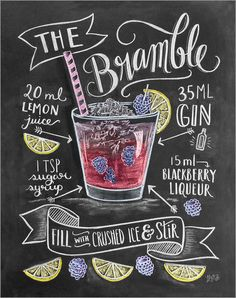 Poster / Leinwandbild Brombeer-Cocktail - Lily & Val